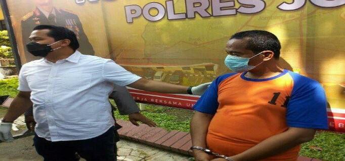 Oknum Ponpres diamankan Polres Jombang (poto beritajatim)