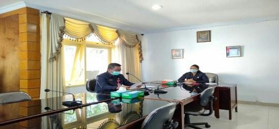 Rapat Paripurna I DPRD Kabupaten Jembrana terkait membahas masa persidangan II Tahun Sidang 2019-2021, bertempat di lantai II Ruangan Rapat DPRD Kab. Jembrana