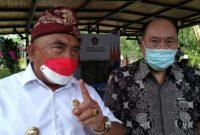Bupati I Nengah Tamba bersama Direktur GGP Wile Sudiono